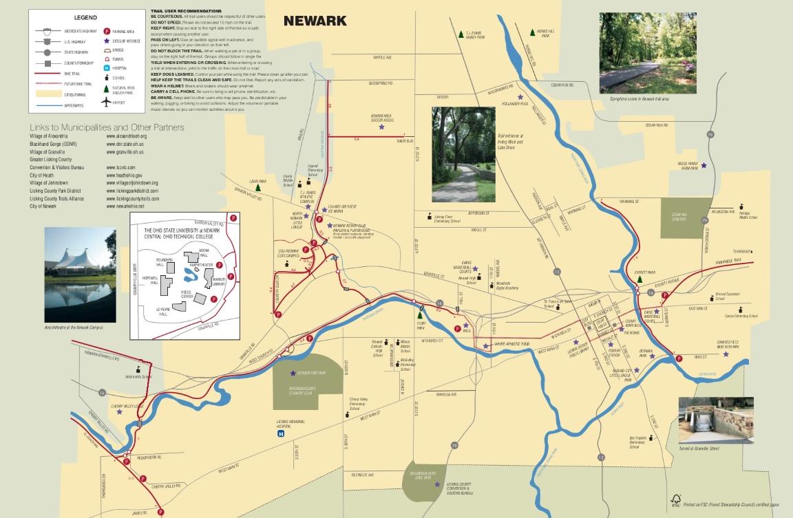 Newark Bike Trails Map