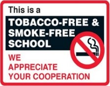 Tobacco-Free and Smoke-Free School Sign