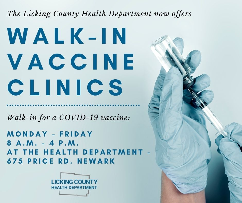 walk-in vaccine clinic now offers